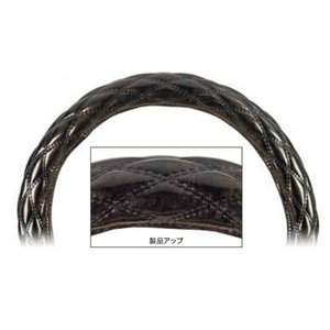 【もこもこダブルステッチハンドルカバー  富士(細巻)】ロイヤルブラック 41cm用  |totocar