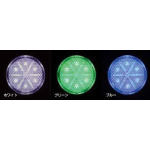 【LED6 丸型リフレクターNEO 】ホワイト/グリーン/ブルー 24V用 1枚 totocar