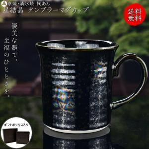 京焼 清水焼 陶あん 星結晶 マグカップ(鉄黒) touanstudiokyoya