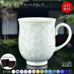 京焼 清水焼 陶あん 花結晶 ふくりんマグカップ 選べる全15色|touanstudiokyoya