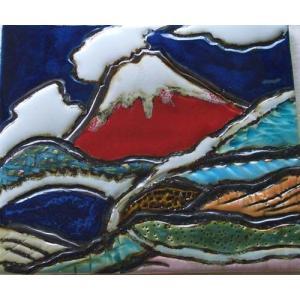 オリジナル美術陶板 赤富士シリーズ・雲海|touban-art