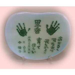 【おめで陶板】手形足型記念タイル〜紅葉の手は、お子様のお誕生記念に最適です。|touban-art|02