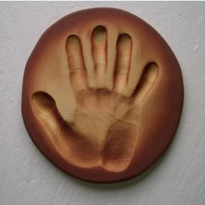 【お家で陶芸〜手形足形タイルBタイプ】家族やペットの手形足形をタイルにしませんか。 touban-art