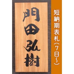 木製表札いづみ椿魚さんの書体による木製表札 欅表札 WO2 サイズ:210×100×30mm|touban-art