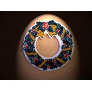 【陶板歳時記】陶器のクリスマスリース〜クリスマス・プレゼントに最適です。 touban-art 02