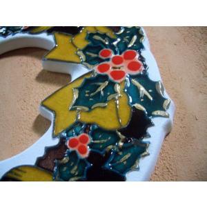 【陶板歳時記】陶器のクリスマスリース〜クリスマス・プレゼントに最適です。 touban-art 03