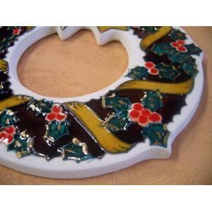 【陶板歳時記】陶器のクリスマスリース〜クリスマス・プレゼントに最適です。 touban-art 04