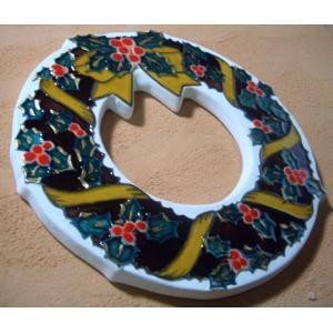 【陶板歳時記】陶器のクリスマスリース〜クリスマス・プレゼントに最適です。 touban-art 05