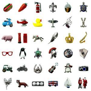 【商品】ピンバッジ 英国カドガン社 【サイズ】例 グリーンカー:縦1.4cm×横1.9cm  英国デ...