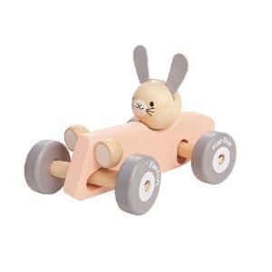 おもちゃ 木製 車 レーシングカー ベビー PLAN TOYS プラントイ バニーレーサー パステル|tougenkyou