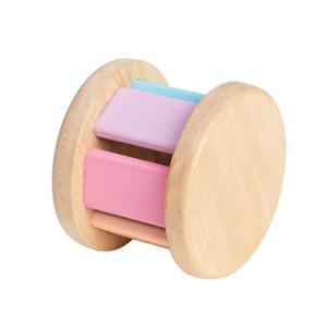おもちゃ 木製 ラトル がらがら ベビー PLAN TOYS プラントイ ローラー パステル|tougenkyou
