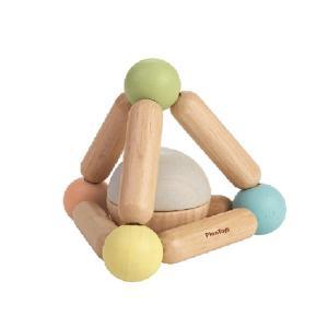 おもちゃ 木製 ラトル がらがら ベビー PLAN TOYS プラントイ 三角のにぎにぎ パステル|tougenkyou
