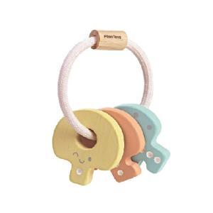 おもちゃ 木製 ラトル がらがら 木のおもちゃ PLAN TOYS プラントイ キーラトル パステル|tougenkyou