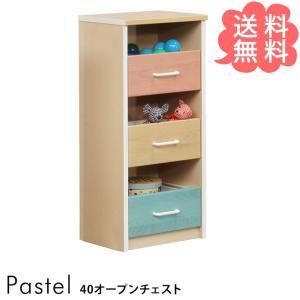 おもちゃ 収納 おもちゃ箱 子供 Pastel パステル オープンチェスト 幅40cm