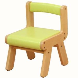 キッズチェア/木製子供椅子/いす/naKIDSキッズPVCチェアー(グリーン)  【ノベルティ対象外】|tougenkyou