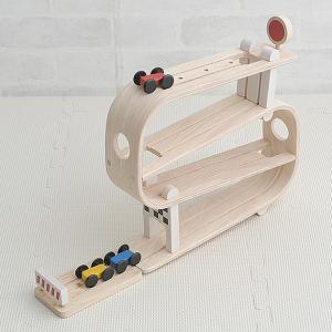 おもちゃ 木製 スロープおもちゃ 車 PLAN TOYS(プラントイ) ランプレーサー 【ラッピング対応】|tougenkyou