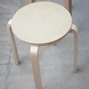 スツール 椅子 チェア 板座 &NE アンドエヌイー ラウンドスタッキングスツール|tougenkyou