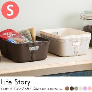 収納ボックス おしゃれ ストレージボックス 収納 【袋ラッピング対応】 Life Story(ライフストーリー) craft クラフト オブロング Sサイズ|tougenkyou