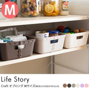 収納ボックス おしゃれ ストレージボックス 収納 【袋ラッピング対応】 Life Story(ライフストーリー) craft  クラフト オブロング Mサイズ|tougenkyou