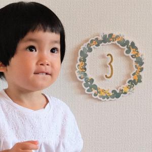 オーナメント 誕生日 バースデー キッズ kazokutte カゾクッテ 数字オーナメント