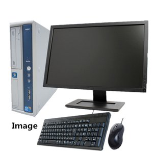 Windows 10 純正Microsoft Office 2013付 新品1TB メモリ4GB 22型液晶セット 日本メーカー NEC MB-B 爆速Core i5 650 3.2G DVD 無線(MB-B-MS2013)