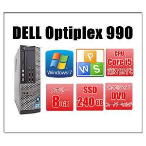 中古パソコン デスクトップパソコン ポイント5倍 Windows 7 SSD240G メモリ8GB DELL OptiPlex 980 SFF 爆速Core i5 3.2GHz DVD 無線付 Office|touhou-shop