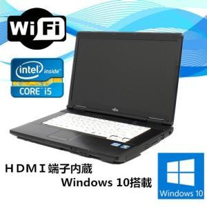 中古ノートパソコン(Windows 10)HDMI端子内蔵 富士通 LIFEBOOK A572 Core i5 3320M 2.6G/メモリ4GB/HDD 250GB/DVD-ROMドライブ/無線有|touhou-shop