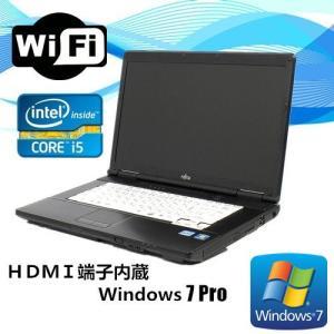 中古ノートパソコン Windows 7 Pro HDMI端子付 15型ワイド 富士通 LIFEBOOK A572 Core i5 3320M 2.6G メモリ4GB HDD250GB DVD-ROM 無線WIFI有|touhou-shop