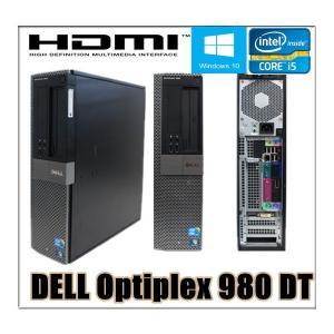 中古パソコン デスクトップパソコン Windows 10 HDMI端子有(新品Gefoce1GB) Office 2013 DELL Optiplex 980 高速Core i5 760 2.8G メモリ4G 160GB DVD|touhou-shop