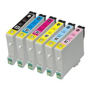 EPSON IC32系/IC6CL32 互換インクカートリッジ 6色セット【エプソン】【汎用品】【メール便対応】 【新品】|touhou-shop