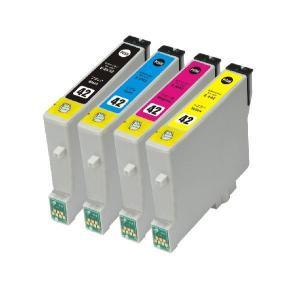 EPSON IC42系/IC4CL42 互換インクカートリッジ 4色セット【エプソン】【汎用品】【メール便対応】 【新品】|touhou-shop