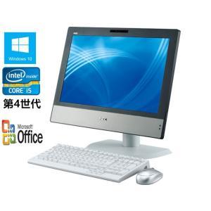 中古パソコン 一体型 純正Microsoft Office付 Windows 10 NEC 20インチワイド一体型PC MGシリーズ Core i5 第4世代 4570s 2.9G/メモリ4GB/HDD250GB|touhou-shop
