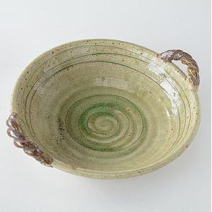 手作り 綱の持ち手 薄緑大盛鉢|toukistudio