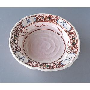 大鉢 盛皿 手作り 赤絵|toukistudio