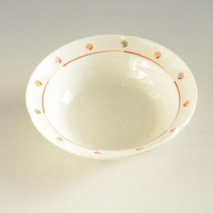 粉引き 赤絵 中鉢|toukistudio