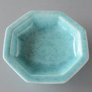 中鉢 八角 トルコブルー きれいなブルー|toukistudio