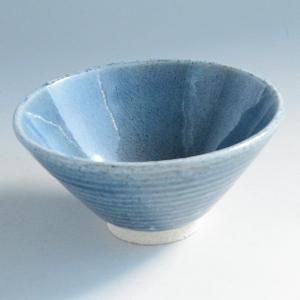 松助窯 ご飯茶碗大 青|toukistudio