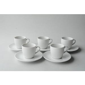 ホテル仕様純白 コーヒーカップ/ソーサー5客セット 送料無料|toukistudio