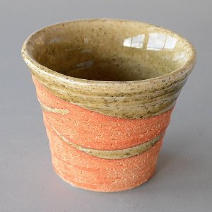松助窯 織部萩マルチカップ|toukistudio