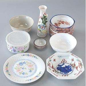 福袋 高級美濃焼き和食器E 8点セット 青い食器 toukistudio