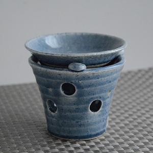 松助窯 茶香炉 ブルー 燃料5個付き|toukistudio