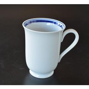 マグカップ ブルーライン ロング|toukistudio