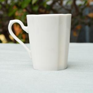 エレガンスストライプ オフホワイト 白い マグカップ|toukistudio