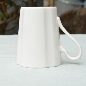 エレガンスストライプ オフホワイト 白い マグカップ|toukistudio|03