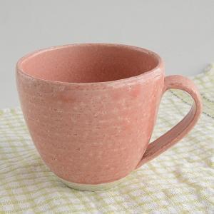 松助窯 かわいいピンクマグカップ toukistudio