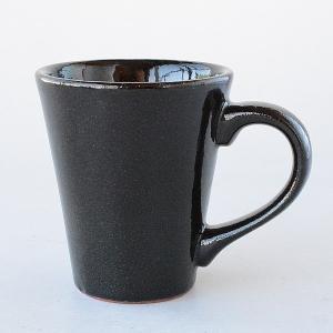 アース調 和風 黒いマグカップ toukistudio