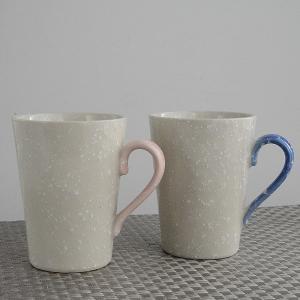 マグカップ 粉雪 ブルー&ピンク 2個セット toukistudio
