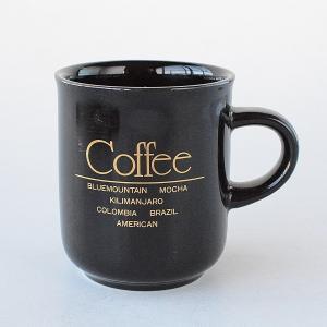 Coffee House ブラックに金文字コーヒーマグカップ|toukistudio