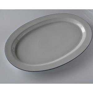 オーバル皿 ブルーライン toukistudio