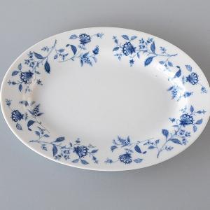 青い花 オーバル皿S|toukistudio